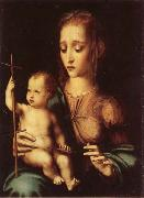 Madonna and Child with Yarn Winder MORALES, Luis de