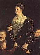 Portrait of the Countess of Sansecodo and Three Children PARMIGIANINO