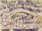 Bathers Beneath a Bridge Paul Cezanne