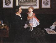 Mrs James Wyatt Jnr and her Daughter Sir John Everett Millais