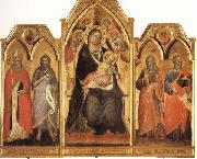 Madonna and Child Enthroned with SS.Paulinus,john the Baptist,Andrew,and Matthew Spinello Aretino