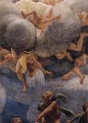 Assumption of the Virgin,details with Eve,angels,and putti Correggio