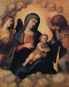 Madonna and Child with Angels playing Musical Instruments Correggio