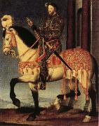Portrait of Francis I on Horseback Francois Clouet