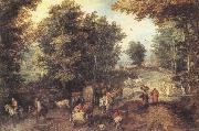 Landscape with a Ford Jan Brueghel The Elder