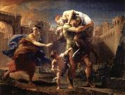 Aeneas Fleeing from Troy Pompeo Batoni
