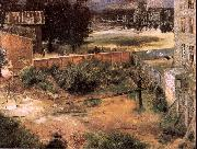 Rear of House and Backyard Adolph von Menzel