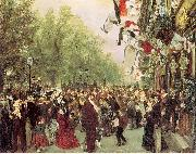 William I Departs for the Front, July 31, 1870 Adolph von Menzel