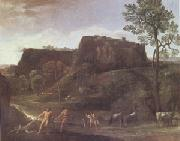 Landscape with Hercules and Achelous (mk05) Domenichino