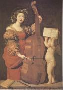 Cecilia with an angel Holding Music (mk05) Domenichino