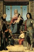 The Virgin and Child with Saints Benedict and Quentin and Two Angels (mk05) Francesco Marmitta