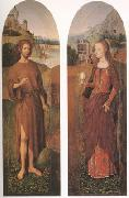John the Baptist and st mary magdalen wings of a triptych (mk05) Hans Memling