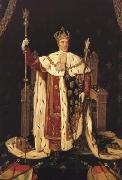 Charles X in his Coronation Robes (mk04) Jean Auguste Dominique Ingres