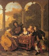 Musical Party on a Terrace Loo, Jacob van