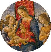 Virgin Adoring the Child with Two Angels Mainardi, Sebastiano
