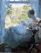 Young Woman Sewing Melchers, Gari Julius