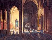 Interior of a Gothic Church Neeffs, Peter the Elder