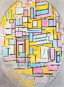 Composition with Oval in Color Planes II Piet Mondrian