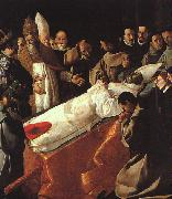 The Lying-in-State of St. Bonaventura ZURBARAN  Francisco de