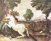 The Maiden and the Unicorn (mk08) Domenichino