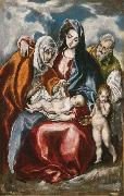 The Holy Family with St Anne and the young St John Baptist (mk08) El Greco