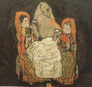 Mother with Two Chilren III (mk12) Egon Schiele