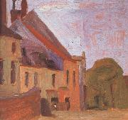 Houses on the Town Square in Klosterneu-burg (mk12) Egon Schiele