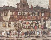 House with Drying Laundry (mk12) Egon Schiele