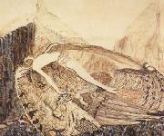 The Fallen Demon,on the death of Mikhail Vrubel (mk19) Vasily Surikov