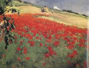 Landscape with Poppies (nn02) William blair bruce