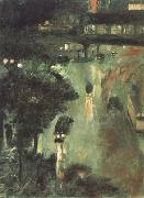 Nollendorf Square at Night (nn02) Lesser Ury