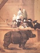 Exhibition of a Rhinoceros at Venice (nn03) Pietro Longhi