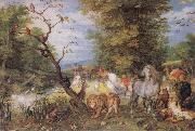 The Animals entering the Ark Jan Brueghel The Elder