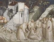 St.Benedict Revives a Monk from under the Rubble Spinello Aretino