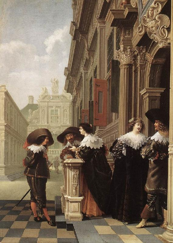 DELEN, Dirck van Conversation outside a Castle gfh