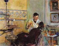 Edouard Vuillard Dr.Georges Viau in His Office Treating Annette Roussel
