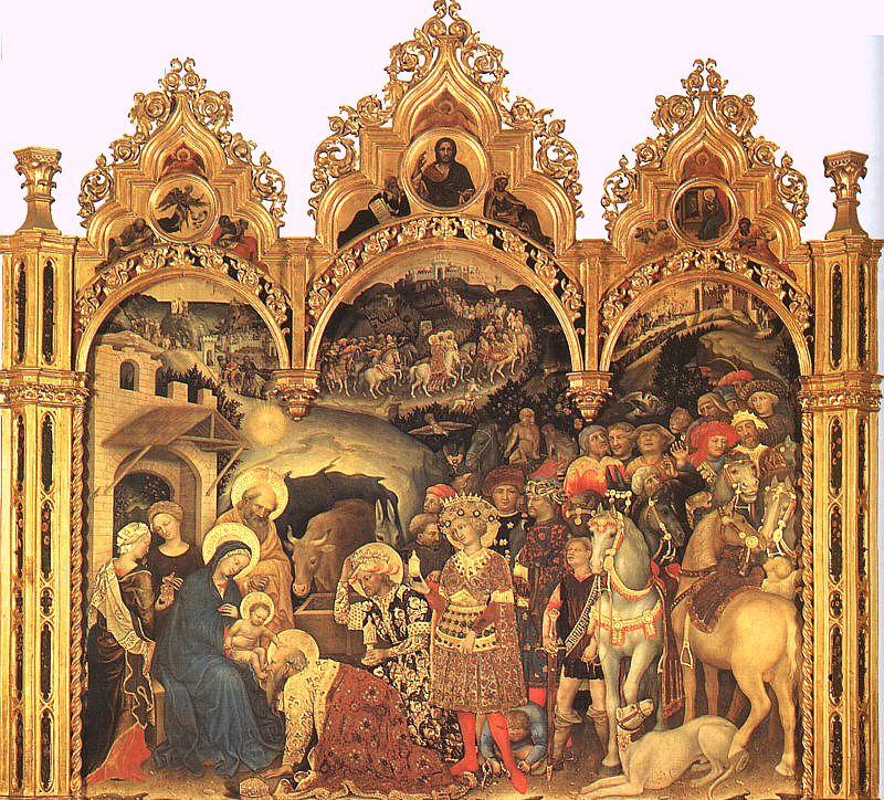 Gentile da  Fabriano The Adoration of the Magi3