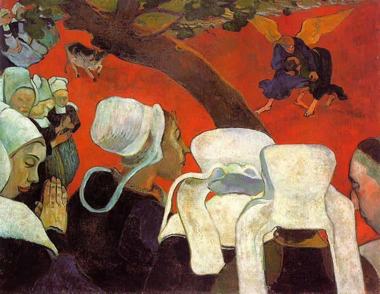 Paul Gauguin The Visitation after the Sermon