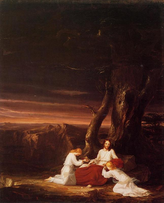 Thomas Cole Angels Ministering to Christ in the Wilderness
