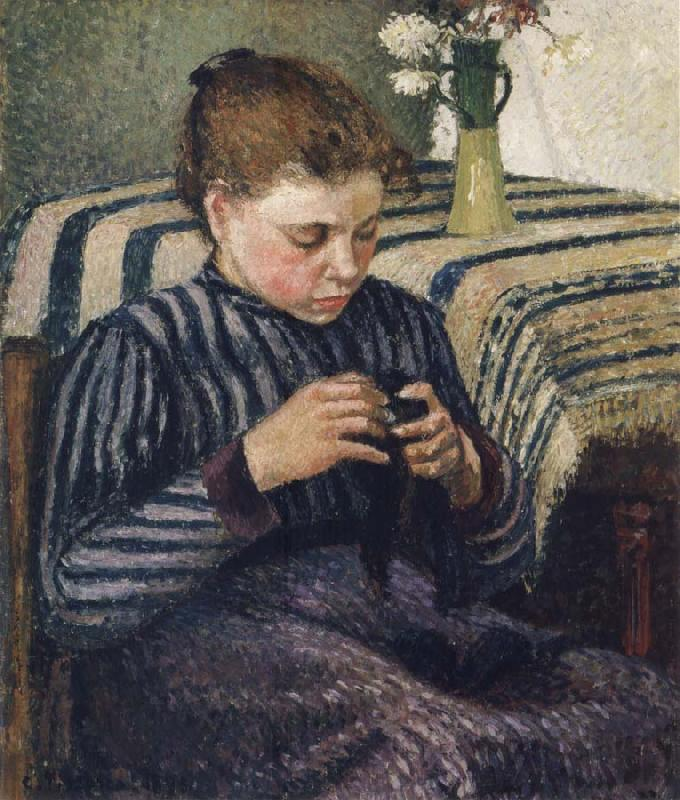 Camille Pissarro Woman sewing