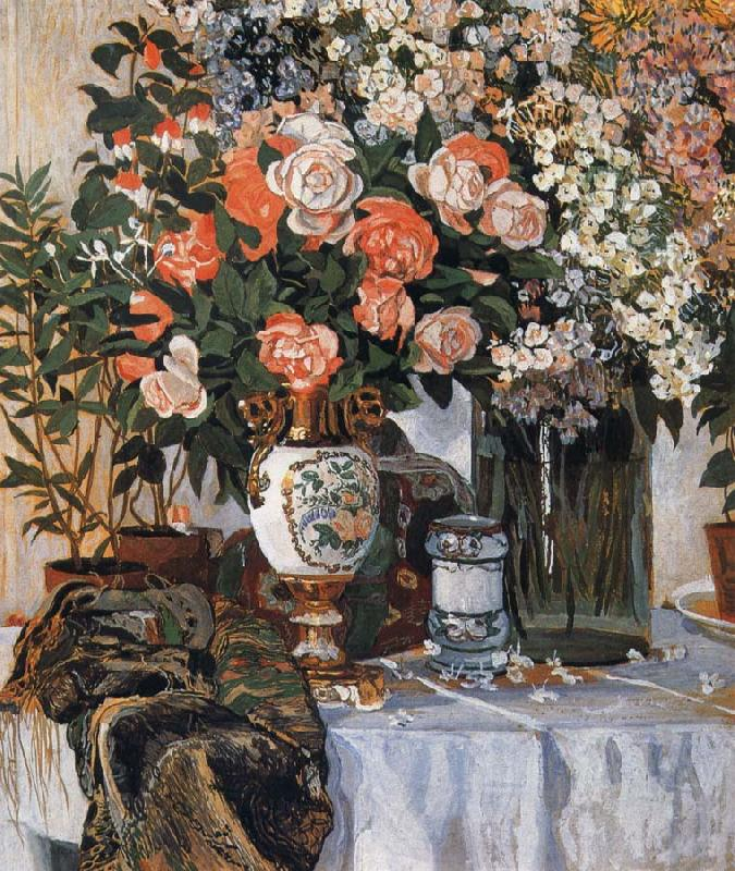 Alexander Yakovlevich GOLOVIN Rose and China