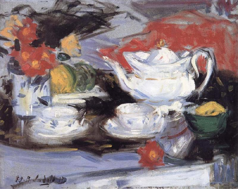 Francis Campbell Boileau Cadell Still Life with White Teapot