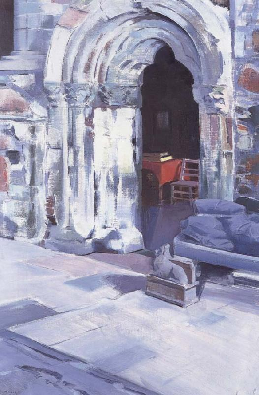 Francis Campbell Boileau Cadell Interior of Iona Abbey