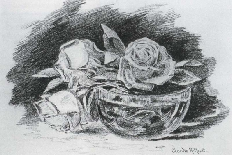Hirst, Claude Raguet Roses in a Bowl