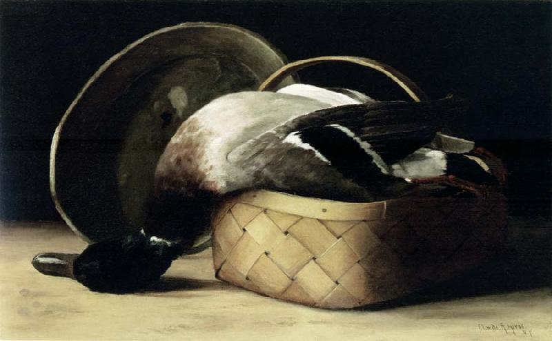 Hirst, Claude Raguet Still Life with Duck in a Basket