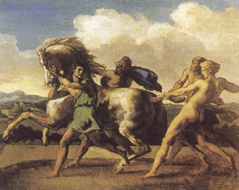 Theodore Gericault Slaves Restraining a House