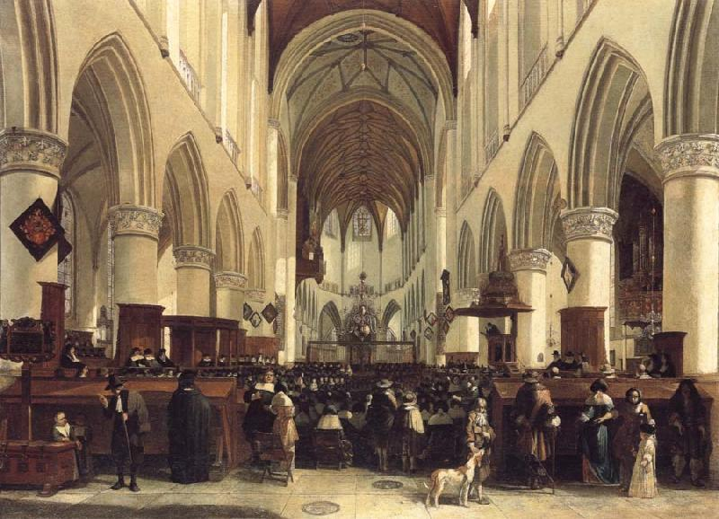 BLEKER, Gerrit Claesz THe Interior of the Grote Kerk,Haarlem