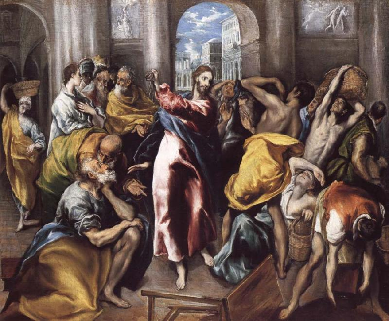 El Greco Christ Driving the Traders from the Temple