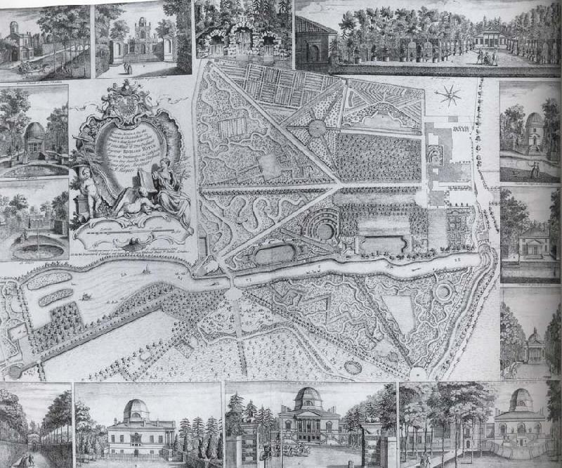 unknow artist Plan and views of Chiswick House