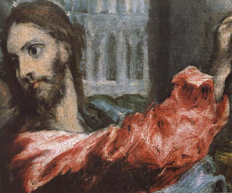 El Greco Detail of  The Christ is driving businessman in the fane